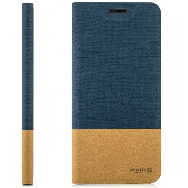 Kunstleder SlimTasche für Samsung Galaxy S10e - Blau