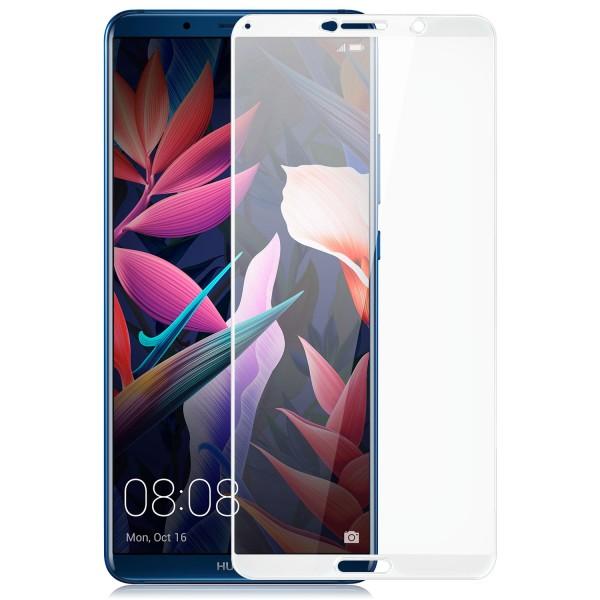Full Cover Displayschutzglas für Huawei Mate 10 Pro - Weiß