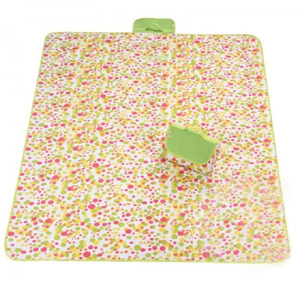XXL Outdoor Decke - Punkte Gelb-Orange-Pink-Grün