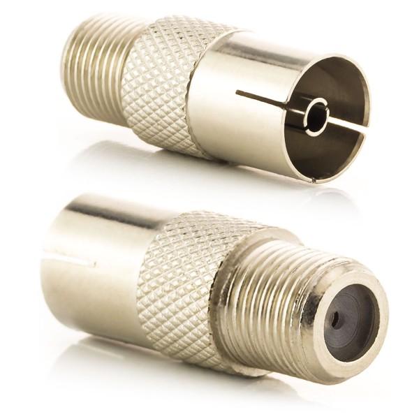 Antennen Kupplung Coax auf F-Buchse