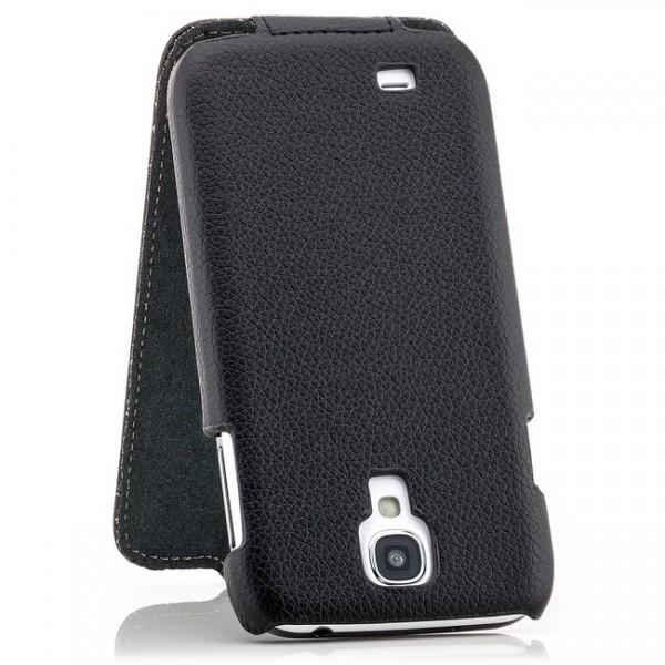 Slim Flip Tasche für Samsung Galaxy S4 Schwarz