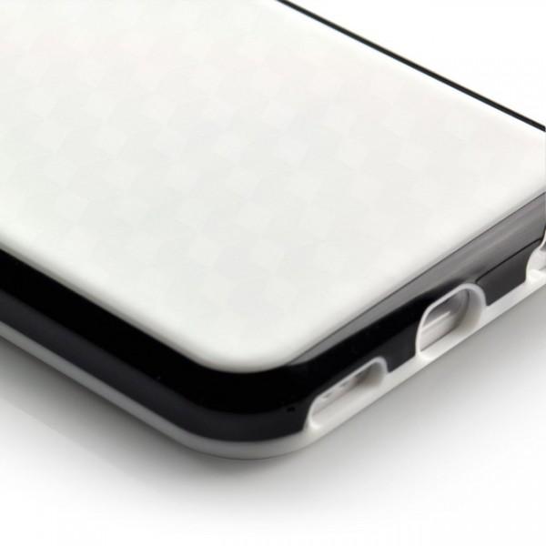 Cubes TPU Case für Apple IPhone 5C Weiß-Schwarz