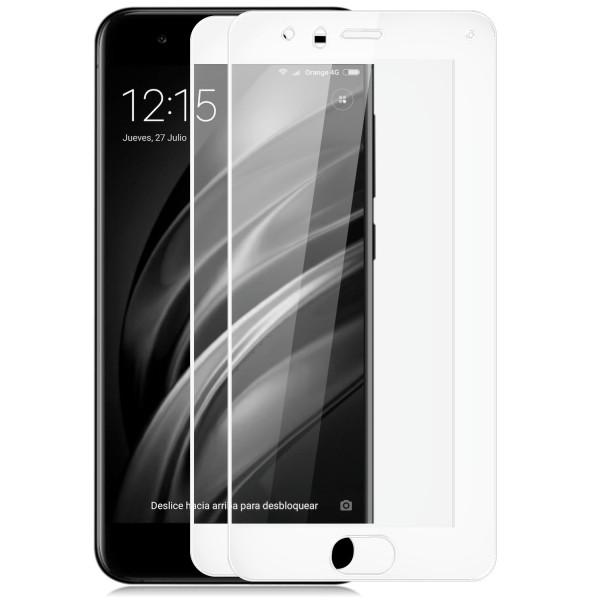2x Full Cover Displayschutzglas für Xiaomi Mi 6 - Weiß