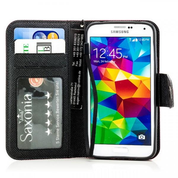 Dual Colours Tasche für Samsung Galaxy S5 Rot