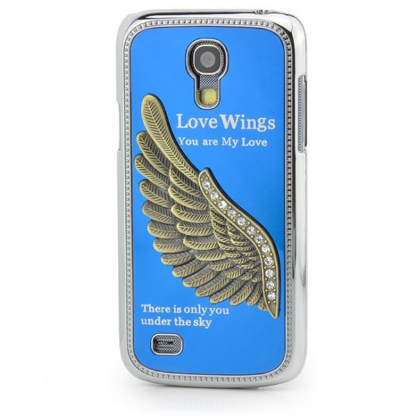 Love Wings Case für Samsung Galaxy S4 Mini Blau