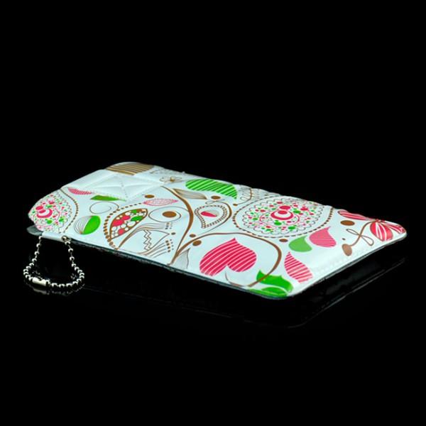 Universelle Handytasche für Handys / Smartphones Weiß-Rot