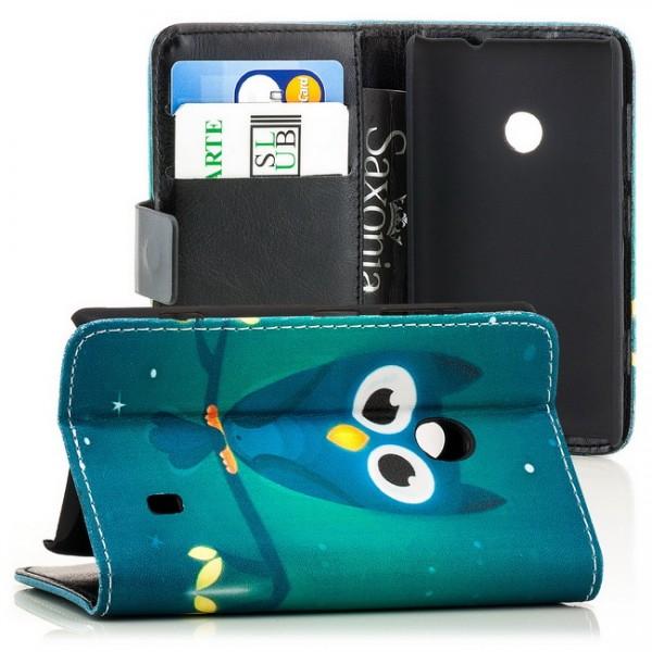 Owl Handytasche für Nokia Lumia 520 Grün