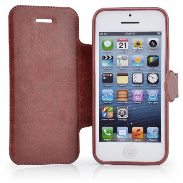 Business Tasche für Apple iPhone 5C Braun