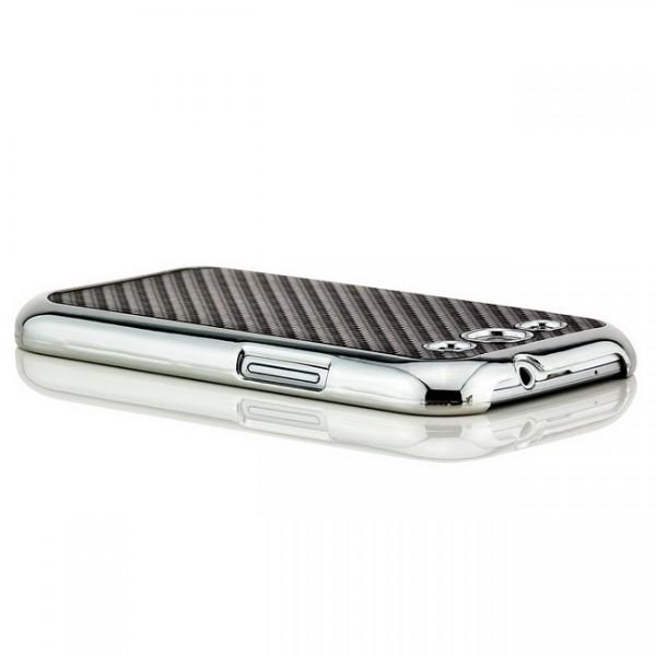Carbon-Look Case für Samsung Galaxy S3 Schwarz