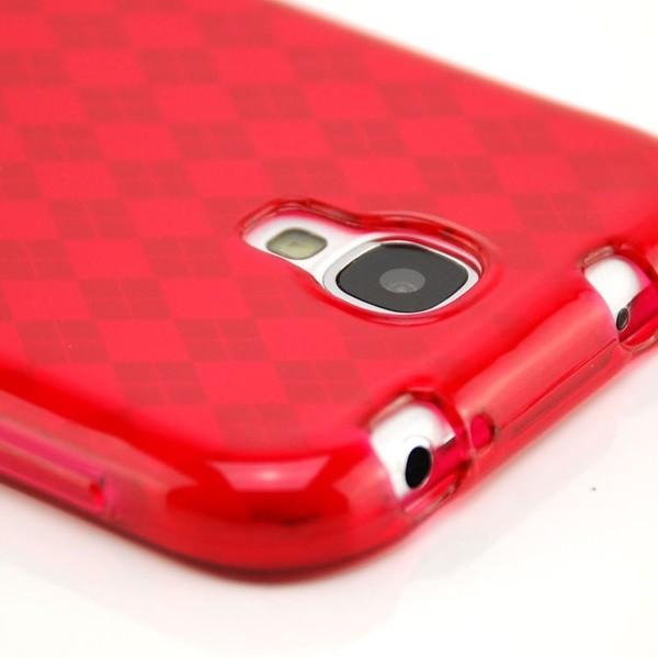 Raute Silikon Case für Samsung Galaxy S4 Rot