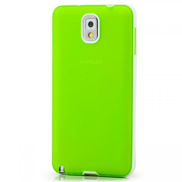 Silikon Back Cover für Samsung Galaxy Note 3 Grün