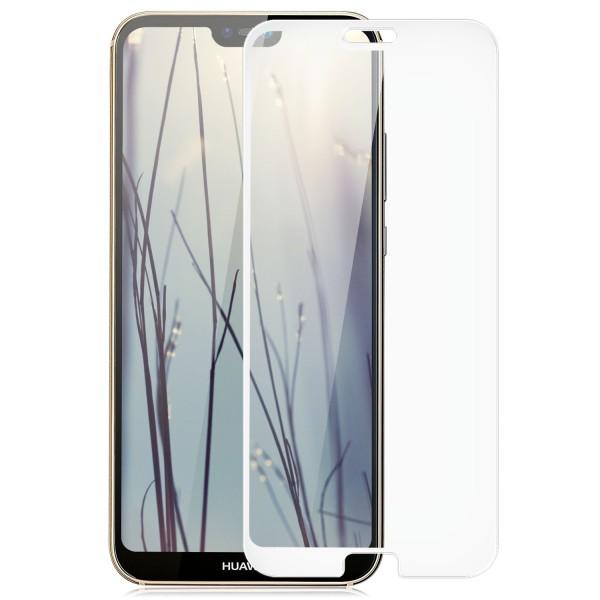 Full Cover Displayschutzglas für Huawei P20 Lite - Weiß