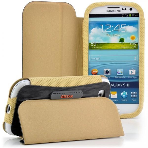 Gissar Flip Tasche für Samsung Galaxy S3 Schwarz