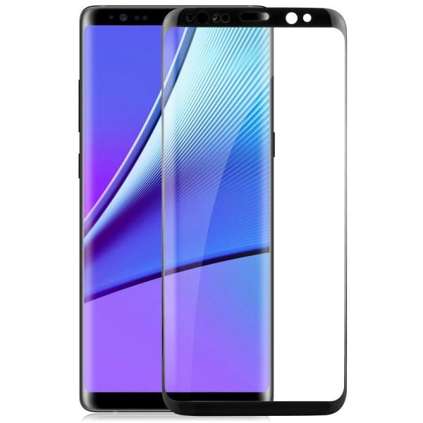 Curved Displayschutzglas für Samsung Galaxy Note 8 - Schwarz
