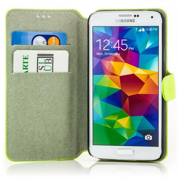 Slim Business Tasche für Samsung Galaxy S5 Grün
