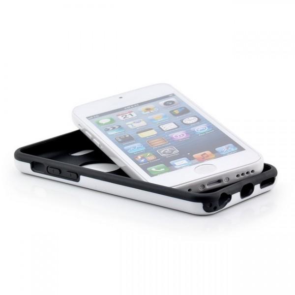 Cubes TPU Case für Apple IPhone 5C Schwarz-Weiß