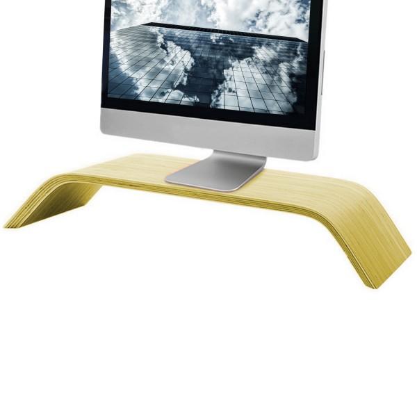 Großer Monitor Ständer / Erhöhung aus Bambusholz