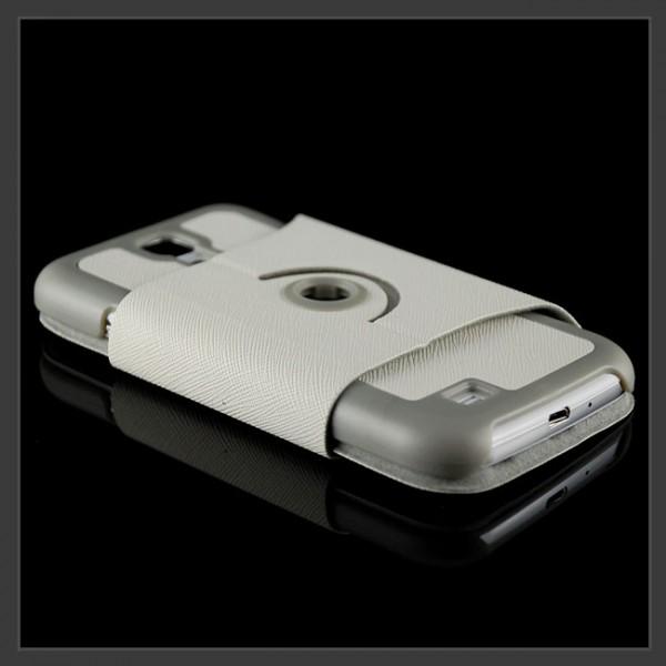 360° Stand Case für Samsung Galaxy S4 Weiß