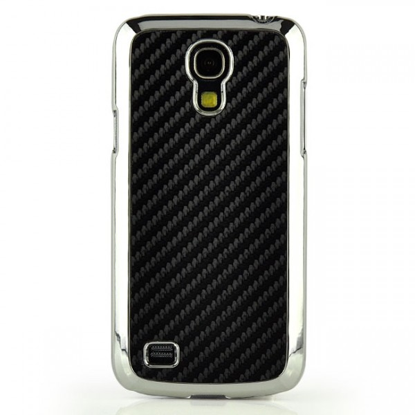 Carbon Back Cover für Samsung Galaxy S4 Mini Schwarz