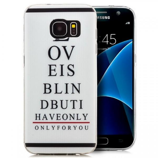 Silikon Motiv Case für Samsung Galaxy S7 - Love is blind