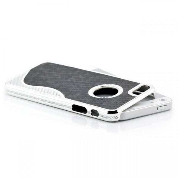 S-Line Cells Back Cover für Apple iPhone 5 & 5S Schwarz