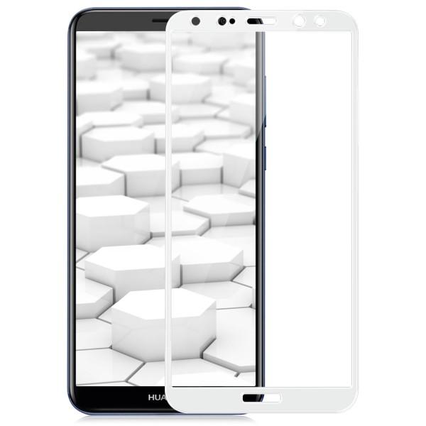 Full Cover Displayschutzglas für Huawei Mate 10 Lite - Weiß