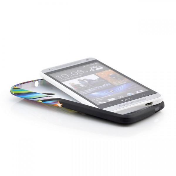 Sterne Silikon Back Cover für HTC One Mini M4