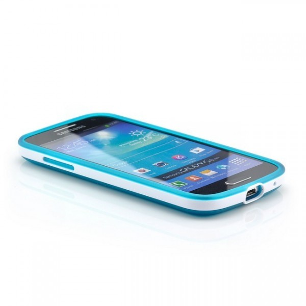 Silikon Back Cover für Samsung Galaxy S4 Mini Blau