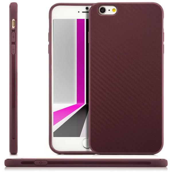 "Silikon Carbon Schutzhülle für Apple iPhone 6 / 6S Plus (5,5"") - Lila"