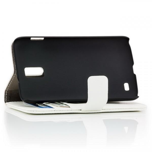 Schutzhülle mit Magnetverschluss für Samsung Galaxy S2 LTE Weiß