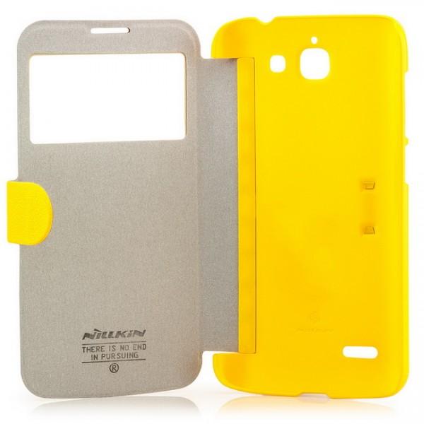 Nillkin Flip Tasche für Huawei Ascend G730 Gelb