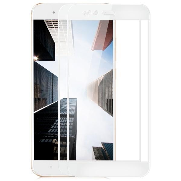 2x Full Cover Displayschutzglas für Xiaomi Mi 5X / Mi A1 - Weiß