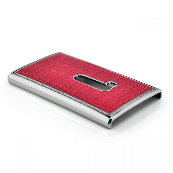 Kroko Back Cover für Nokia Lumia 920 Rot