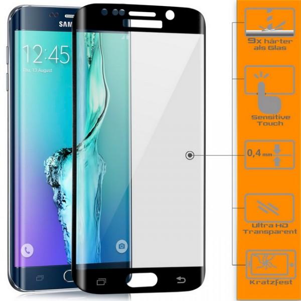 Curved Displayschutzglas für Samsung Galaxy S6 Edge Plus Schwarz