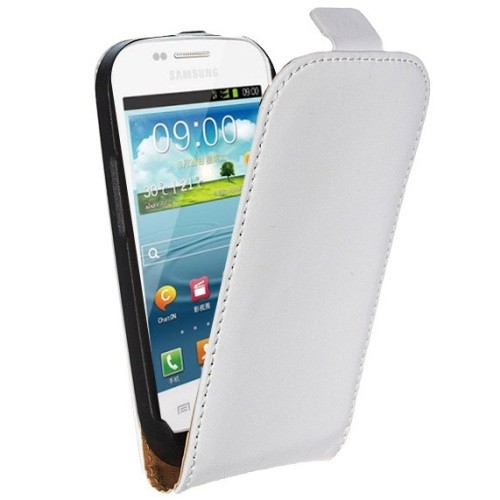 Flip Tasche mit Magnetverschluss für Samsung Galaxy S3 Weiß