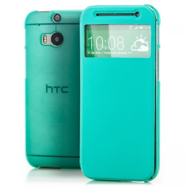 TPU Flip Tasche für HTC One M8 Türkis