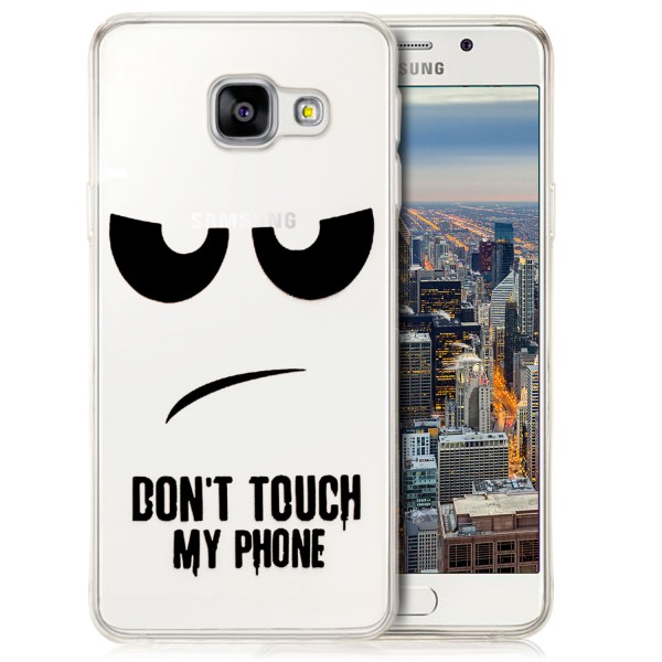 Silikon Motiv Case für Samsung Galaxy A3 (2016) - Dont Touch my Phone