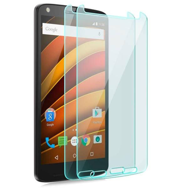 2x Displayschutzglas für Lenovo Motorola Moto X Force