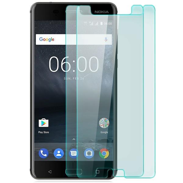 2x Displayschutzglas für Nokia 6