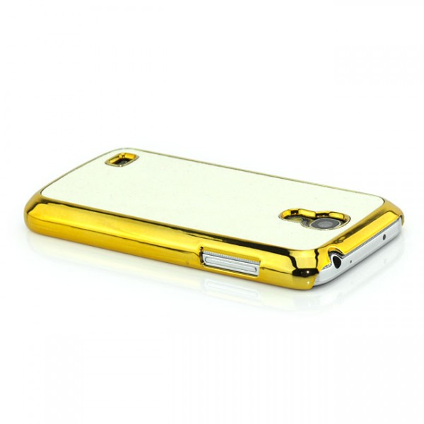 Glitzer Back Cover für Samsung i9190 Galaxy S4 Mini Weiß