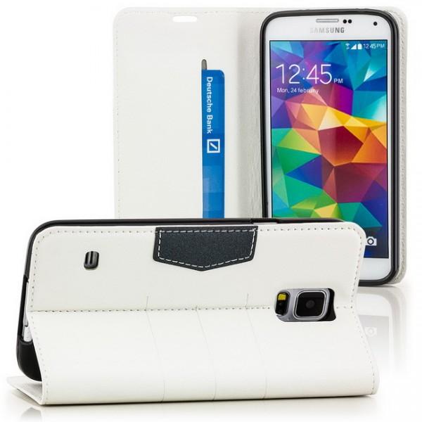 Flip Tasche für Samsung Galaxy S5 Weiß