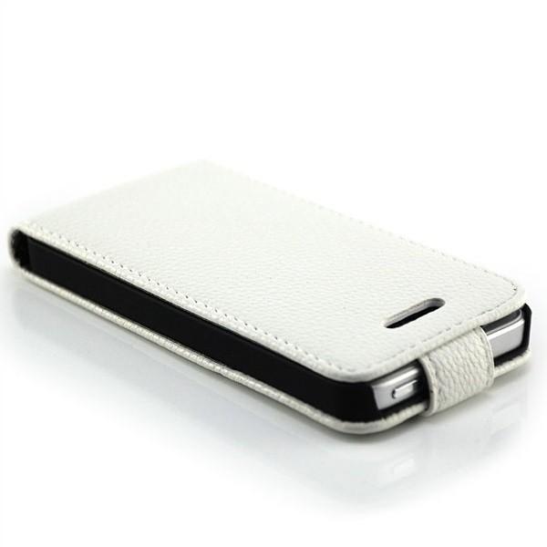 Skin-Style Vertical Stand Case für Apple iPhone 5 & 5S Weiß