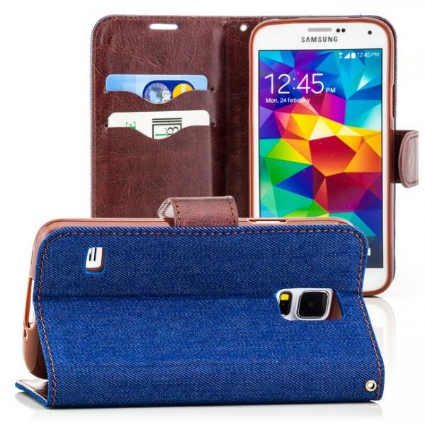 Jeans Style Case für Samsung Galaxy S5 Blau