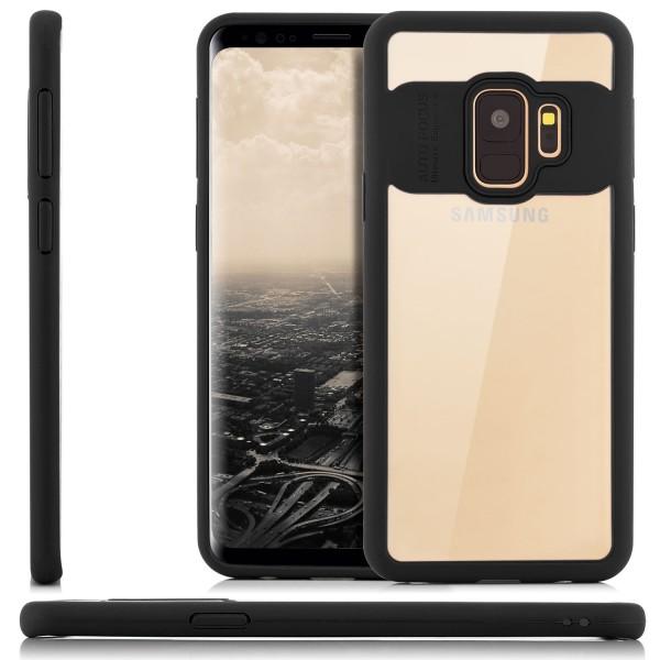 Silikon Back Cover für Samsung Galaxy S9 - Transparent-Schwarz