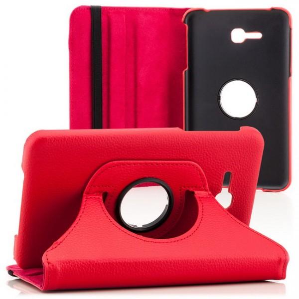 360° Tasche für Samsung Galaxy Tab 3 Lite Rot