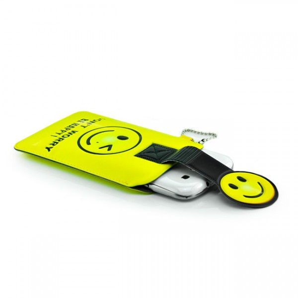 Universelle Handytasche für Handys / Smartphones Don't Worry Be Happy!
