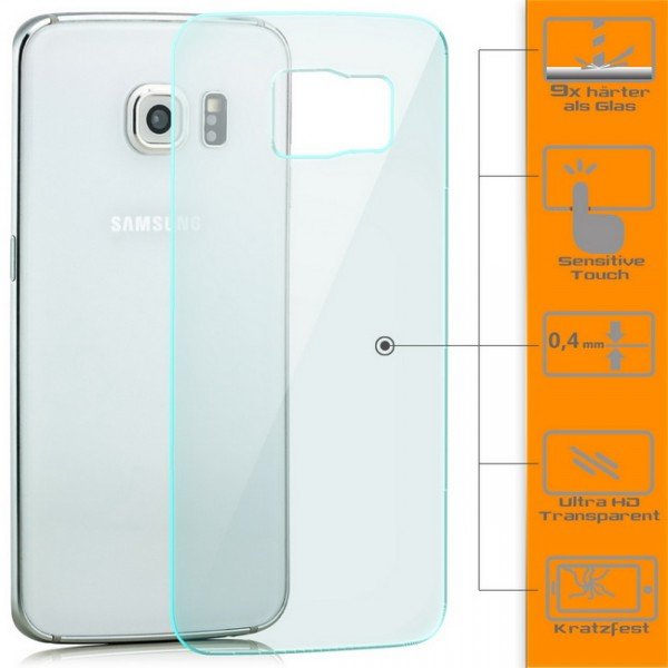 Panzerglas für Samsung Galaxy S6 Edge Rückseite