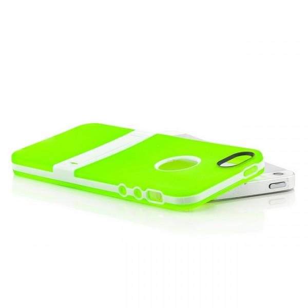 Silikon Stand Case für Apple iPhone 5 & 5S Grün