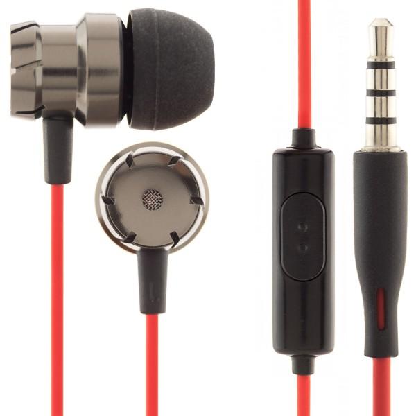 In-Ear Metal Headset - Schwarz-Rot