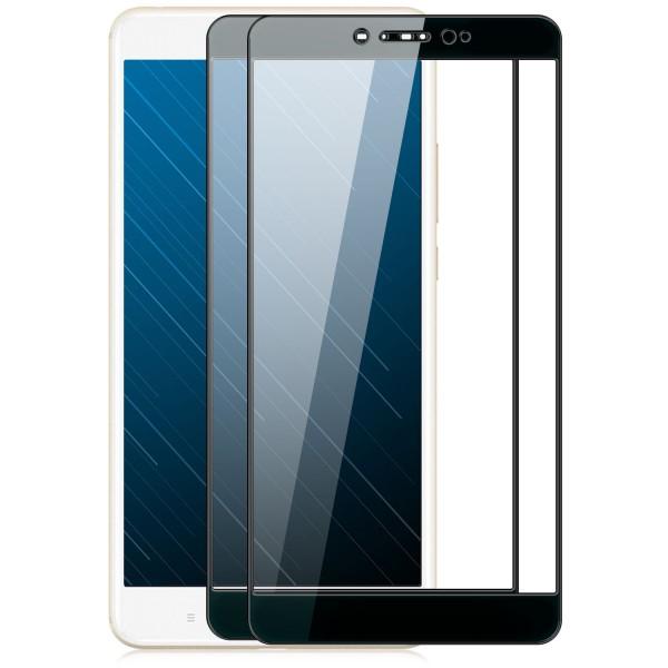 2x Full Cover Displayschutzglas für Xiaomi Mi Max 2 - Schwarz